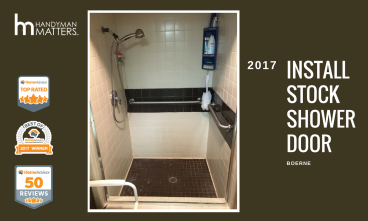 Installation of Stock Shower Door