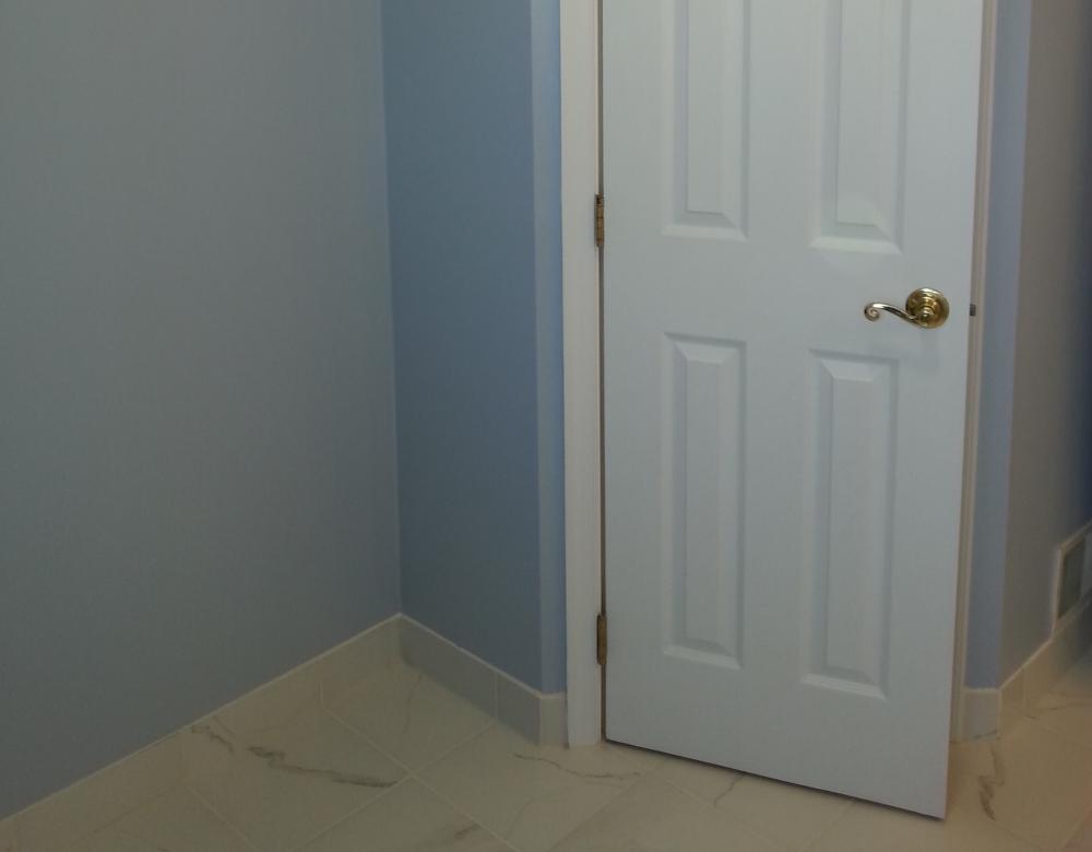 Bathroom Remodel-Bathroom Remodel-Door Install, Painting, Trim, Tile.-Frederick, Maryland