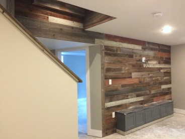 Reclaimed Wood Accent Wall - Denver, CO