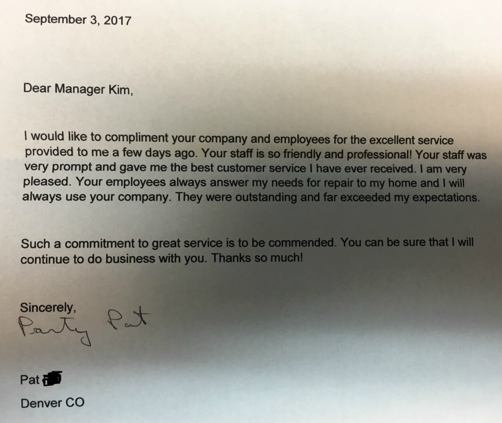Customer Testimonial - Denver, CO