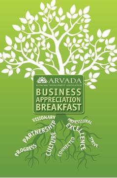 Arvada appreciation breakfast poster printed by www.speedprodenver.net