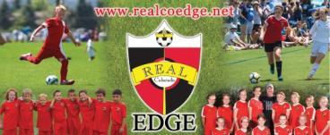 Real Edge soccer banner printed by www.speedprodenver.net