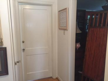 Door painting after