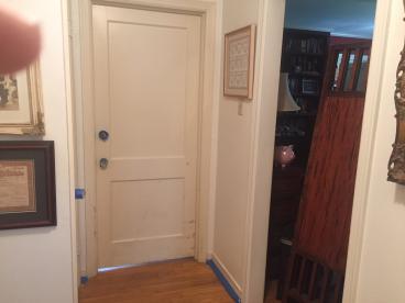 Door painting before