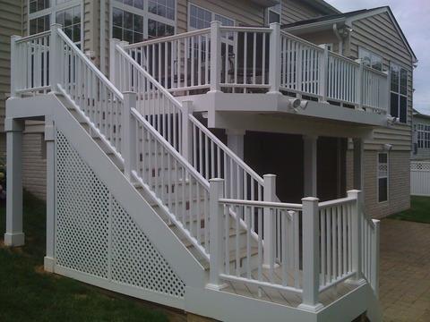 Deck and patio below