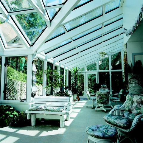 Straight eave sunroom
