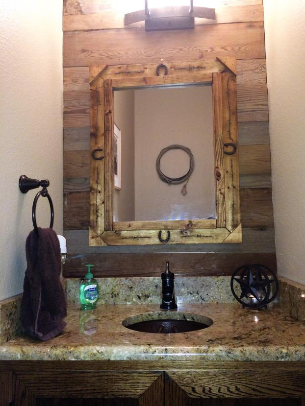 Rustic Powder Bathroom Wylie TX - After