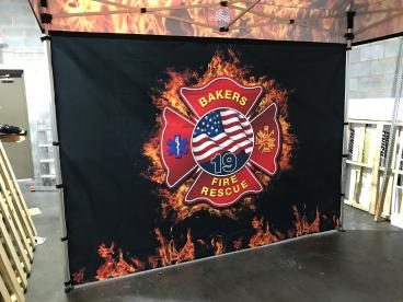 Backdrop for Bakers Fire Department