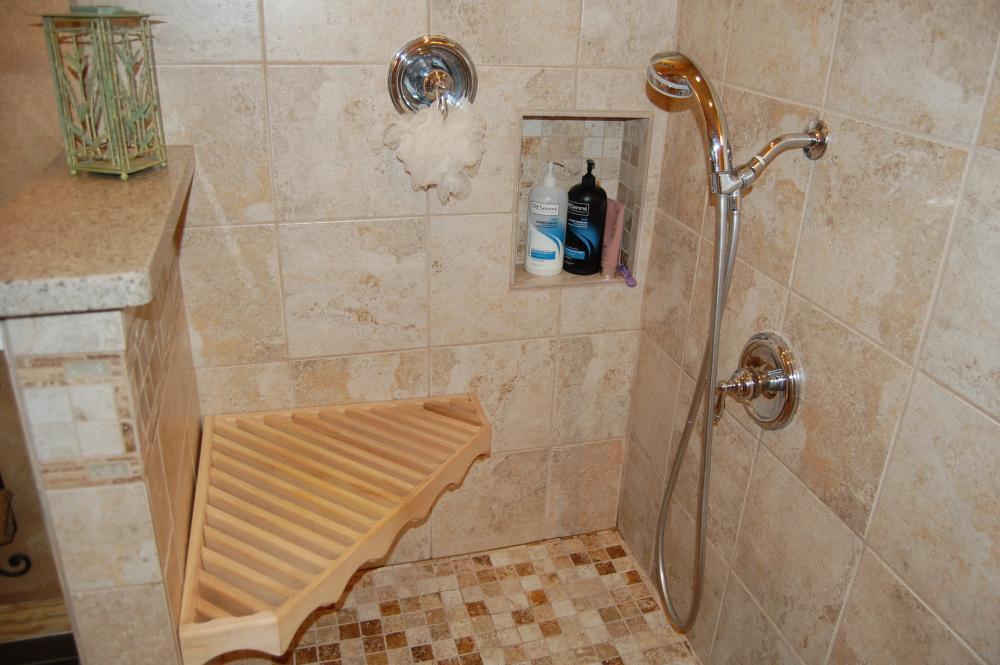 Custom Shower Seat