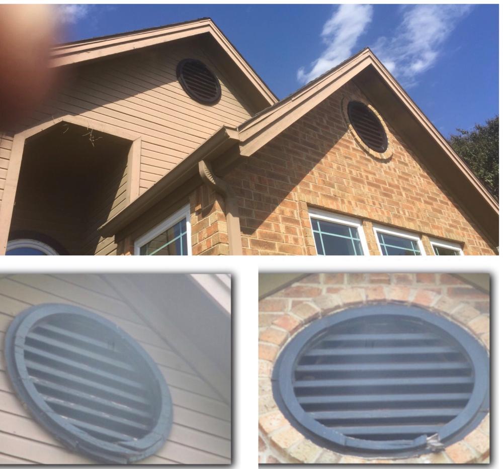 Gable vent repair