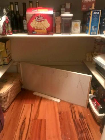 Before pantry shelf repair in Littleton, CO