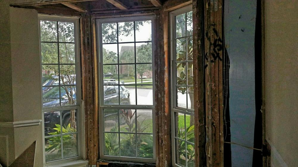 Drywall Repair in League City TX (Before)