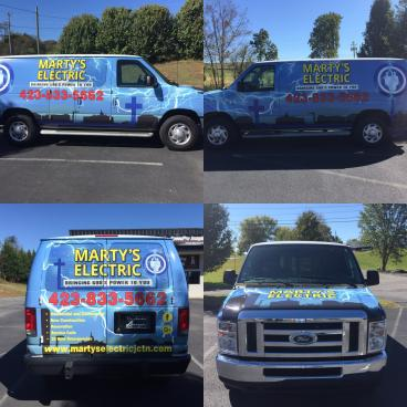 Full Van Wrap for Marty's Electric