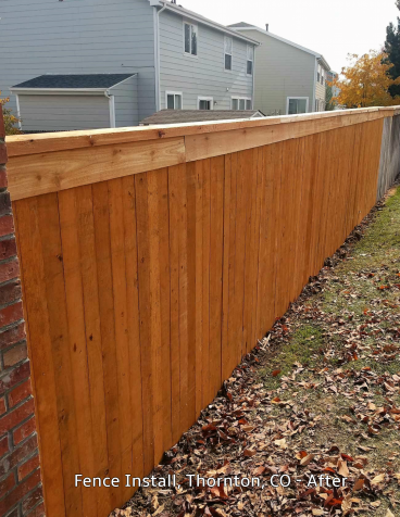Fence Install, Thornton, CO - After