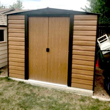 Build shed on slab in Lakewood CO