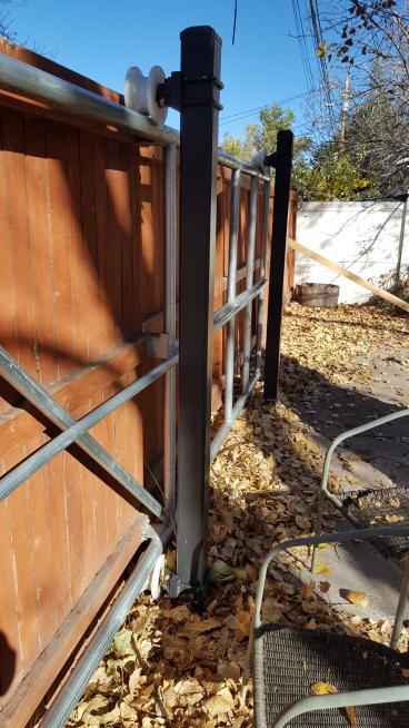 Before fence repair
