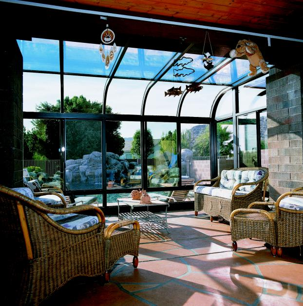 Glass Curved Roof