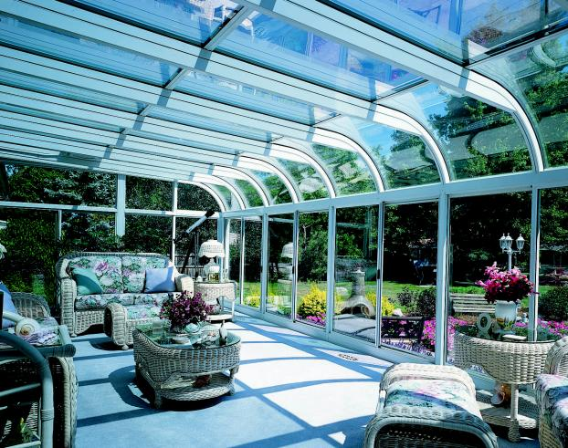 System 4 Glass curved roof