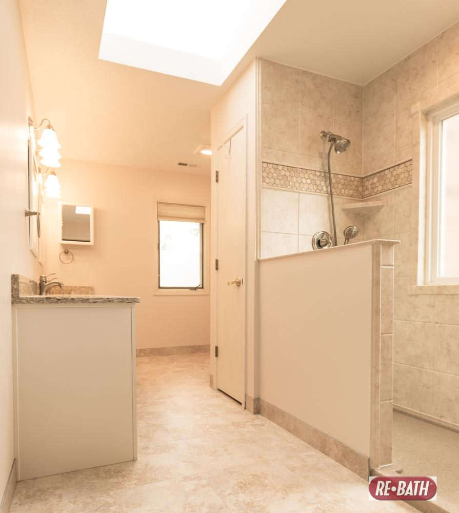 Beautiful fully remodeled bathroom.