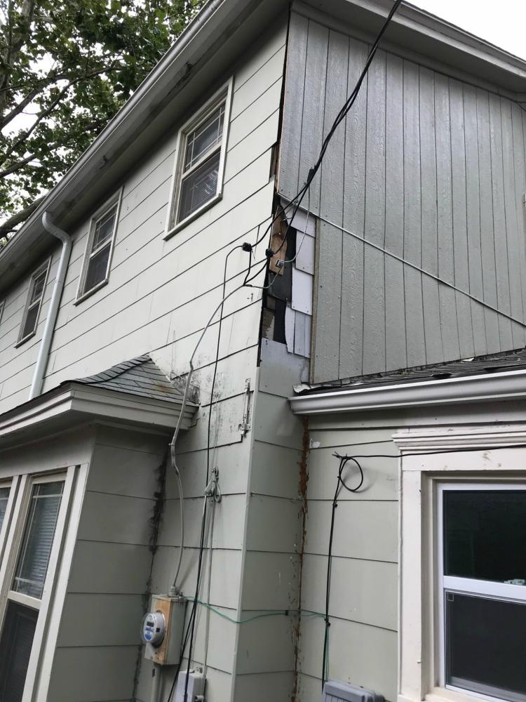 Before: Siding Repair