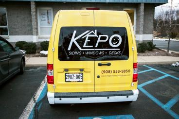 Kepo Siding and Windows Vehicle Window Decal New Jersey