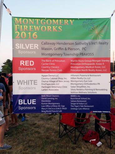 Montgomery Township Fireworks Outdoor Banner
