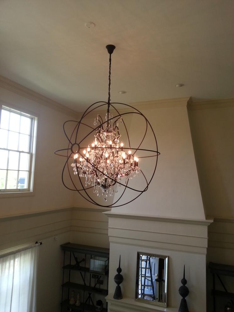 Installed a Chandelier in New Albany