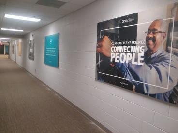 Hallway Signage at CRVA