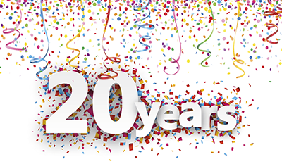 This month, we are celebrating 20 years in business!