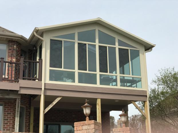 Second story cathedral style sunroom