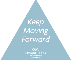 Floor graphics for Crowne Plaza