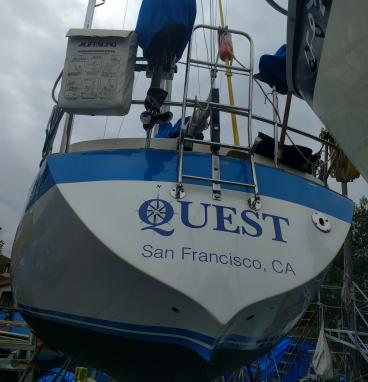 Quest boat decals Alameda
