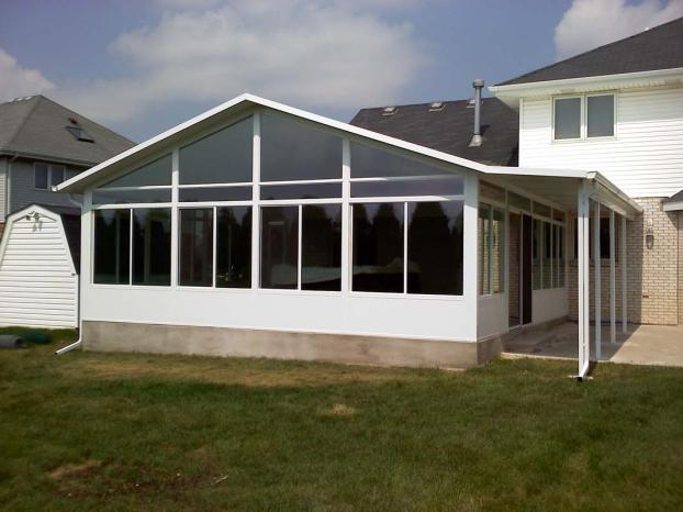 Cathedral style sunroom