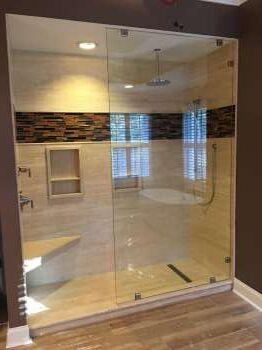 After Natural Stone Shower