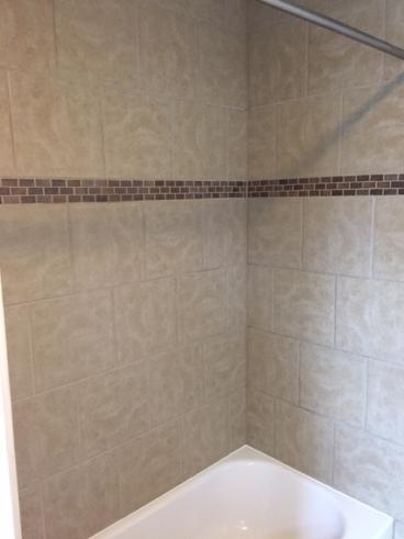 Regrouted Tile Shower Wall Surround in Avoca