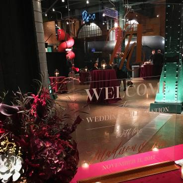 Acrylic Wedding Welcome at Heinz History Center