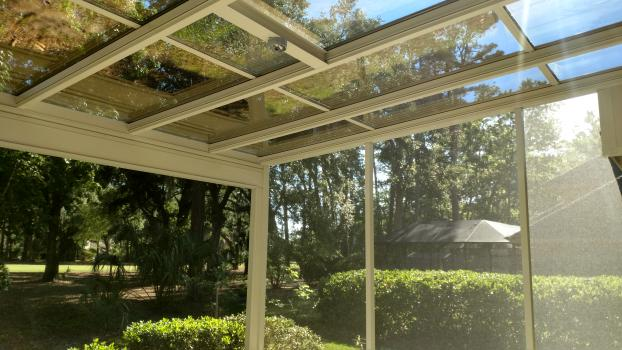 Glass Roof Screen Room