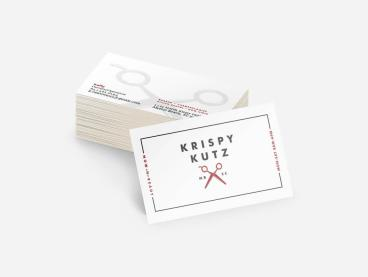 Krispy Kutz Business Cards