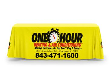 One Hour Heating & Air Conditioning Tablecloth