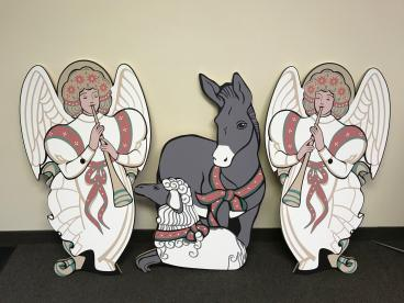 Nativity Scene Wood Cut-outs