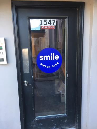 Smile Direct Club: Door Graphics