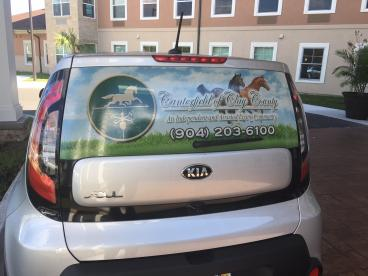 Canterfield of Clay County: Back Windshield Graphics