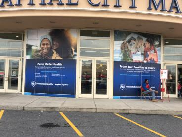 Window Graphics for the Capital City Mall