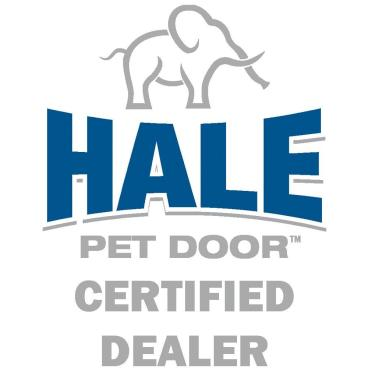 We are certified installers of Hale Pet Doors.