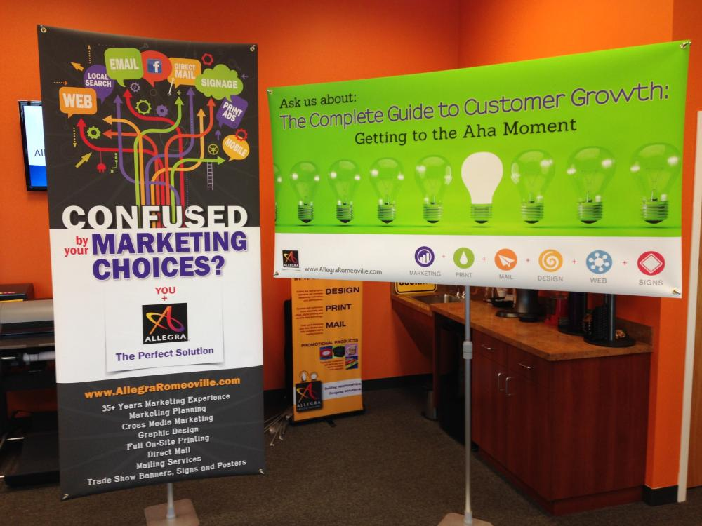 Vertical and Horizontal Banner Stands