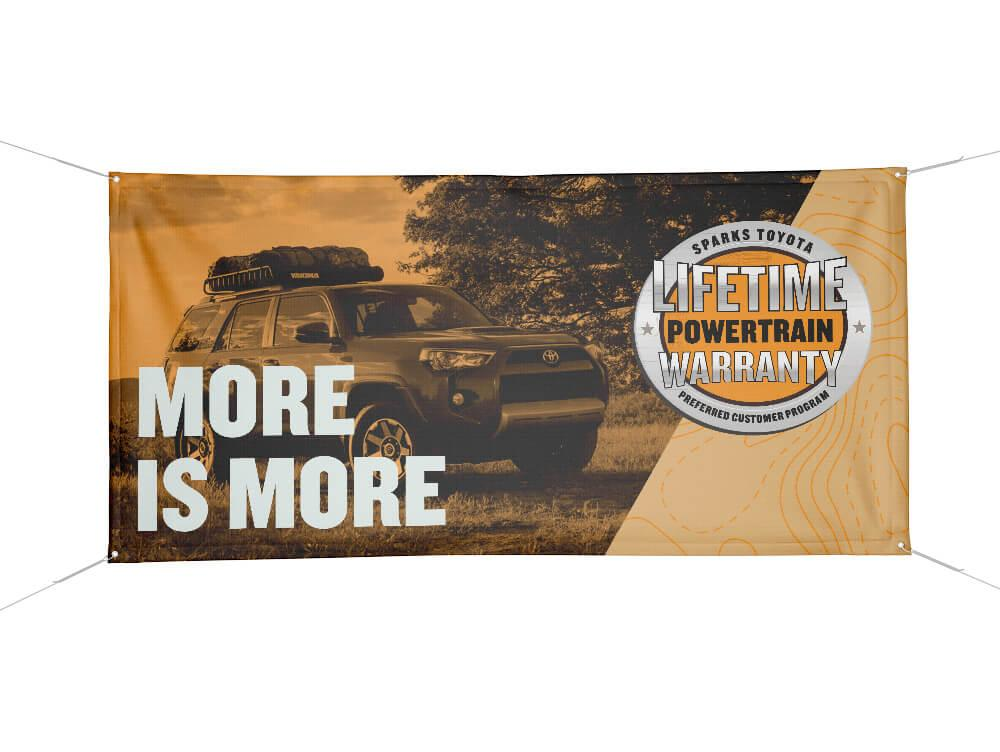 Sparks Toyota's  More Is More Banner