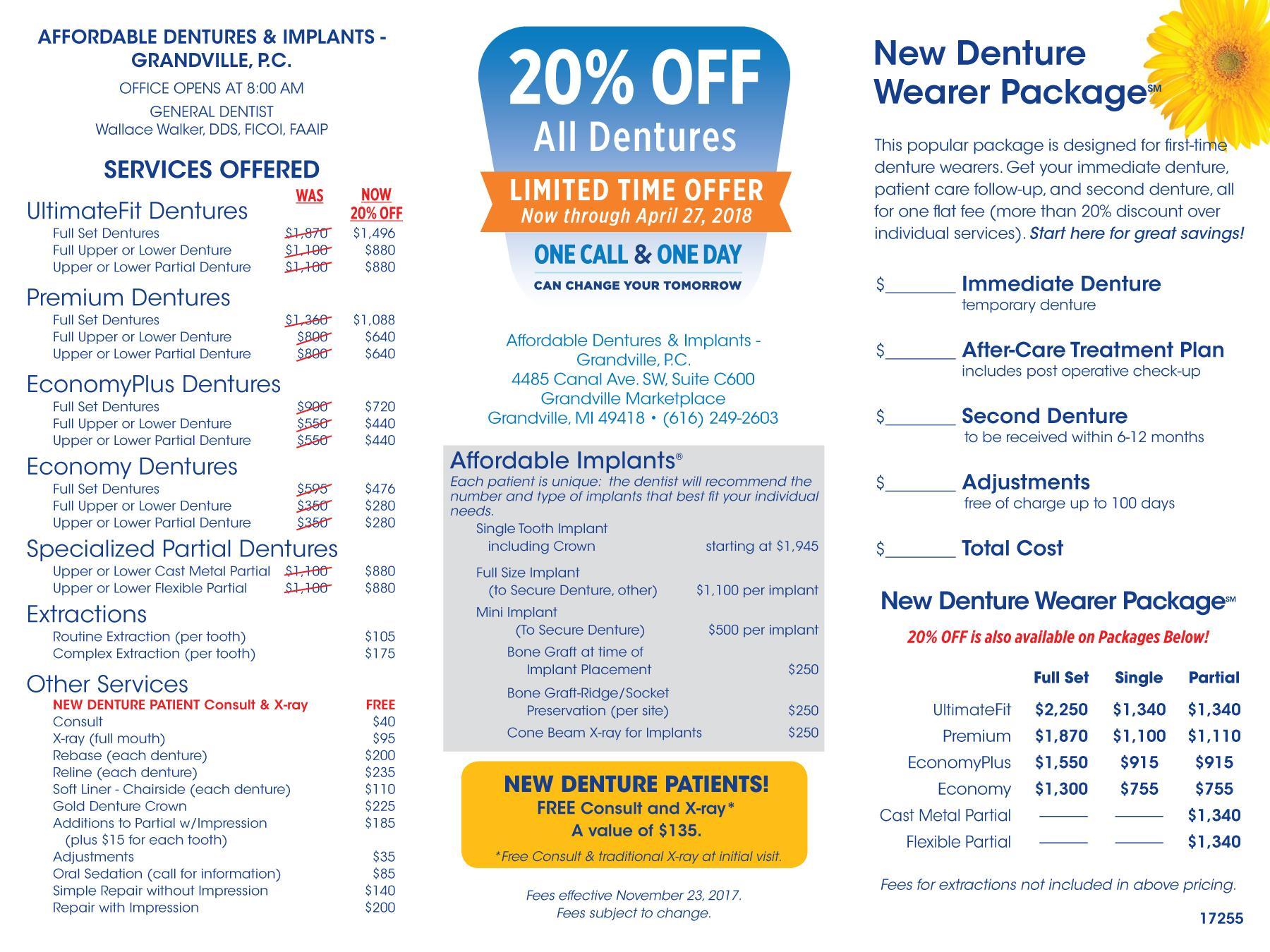 denture care center grandville mi dentist 49418 affordable dentures implants. Black Bedroom Furniture Sets. Home Design Ideas