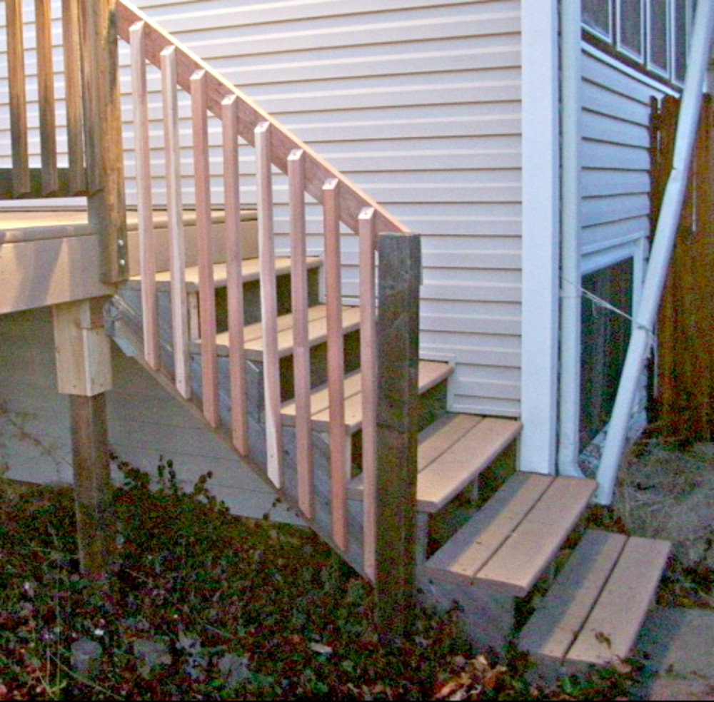 new railing installed as well in Morrison CO 80465