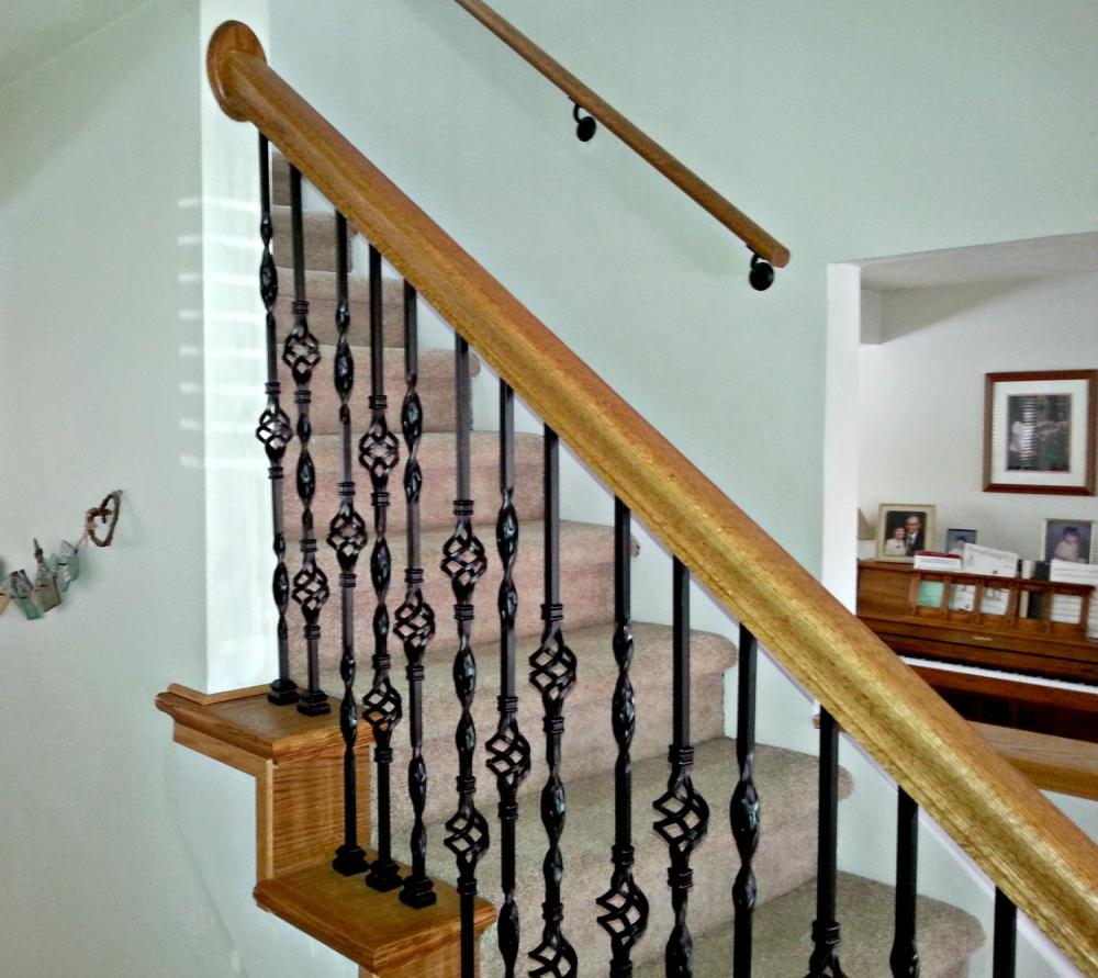 Handrail and balusters install on stairs in Elizabeth, CO