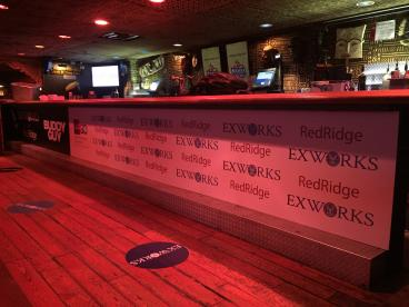 Trade Show Floor Graphics and Bar Branding